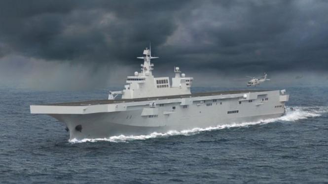 Kapal serbu amfibi 075 milik Angkatan Laut Tentara Pembebasan Rakyat China.