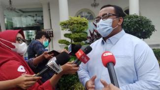Presiden KSPI Andi Gani Nena Wea di kompleks Istana Negara