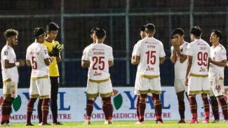 Para pemain PSM Makassar.