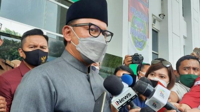 Wali Kota Bogor Bima Arya usai jadi saksi persidangan di PN Jaktim
