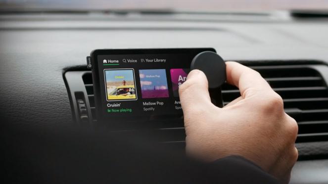 Sistem audio mobil buatan Spotify