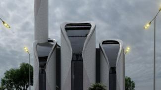 Masjid Sheikh Ajlin di Gaza, Palestina rancangan Ridwan Kamil.
