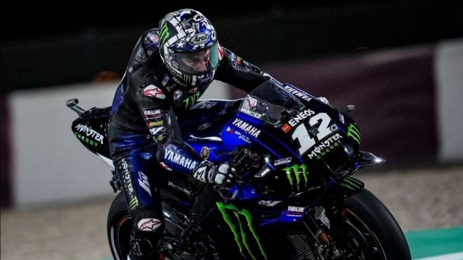 Pembalap Monster Energy Yamaha, Maverick Vinales.