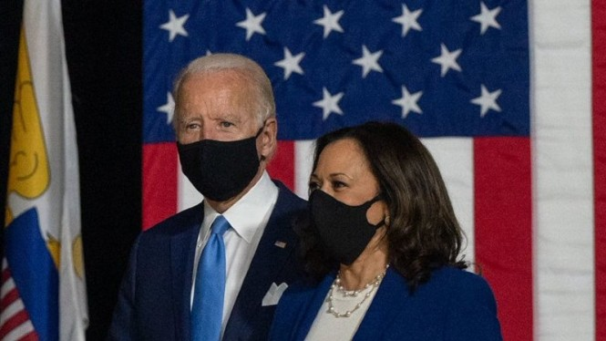 Presiden dan Wakil Presiden AS, Joe Biden dan Kamala Harris.