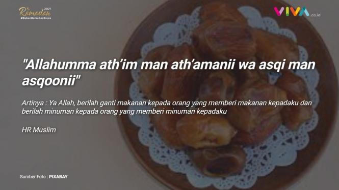 Doa kepada orang yang memberi makan dan minum