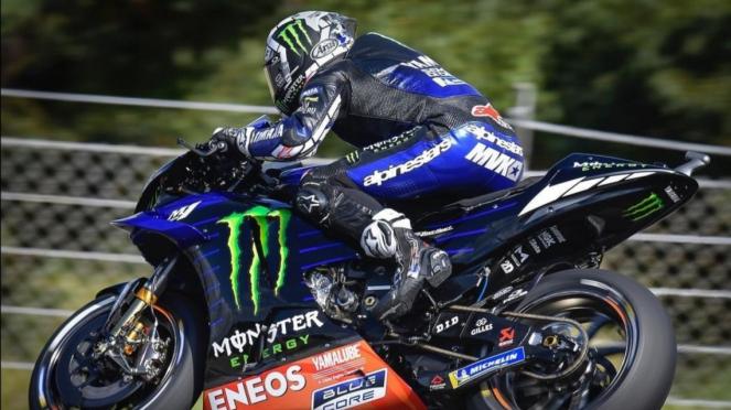 Pembalap Monster Energy Yamaha, Maverick Vinales.
