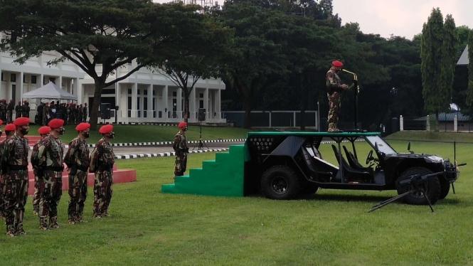 VIVA Militer: Danjen Kopassus pimpin upacara peringatan HUT Kopassus ke-69