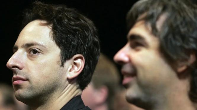 Duo Pendiri Google, Larry Page dan Sergey Brin.