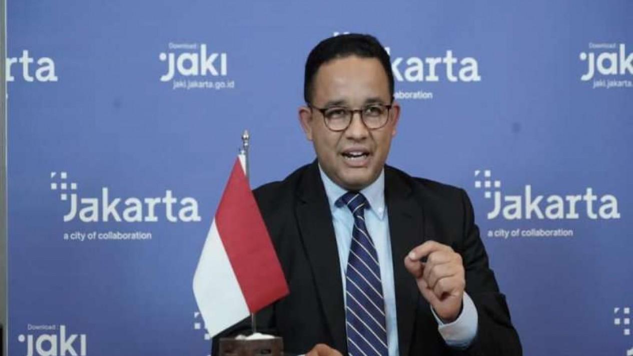 Gubernur DKI Jakarta Anies Baswedan dalam dialog pemimpin C40 Cities