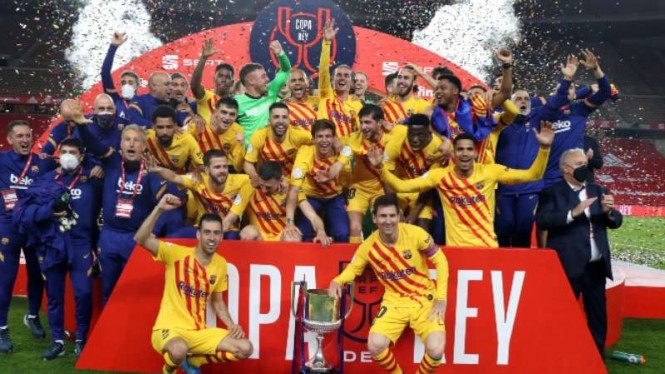 Barcelona juara Copa del Rey 2020/21.