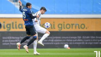 Bomber Juventus, Alvaro Morata, saat hadapi Atalanta
