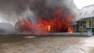Sekolah Dasar (SD) di Jambi kebakaran