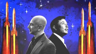 Jeff Bezos vs Elon Musk.