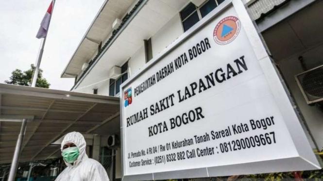 Rumah Sakit Lapangan di Kota Bogor, Jawa Barat.
