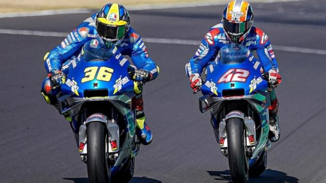 Pembalap Suzuki Ecstar, Joan Mir dan Alex Rins.
