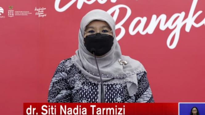 Juru Bicara Kementerian Kesehatan dr Siti Nadia Tarmizi