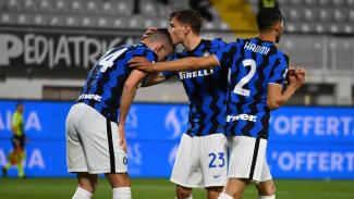 Pemain Inter Milan merayakan gol Ivan Perisic