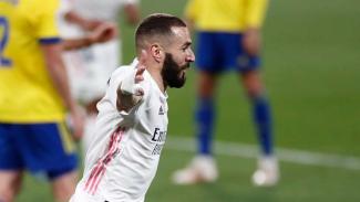 Benzema cetak gol ke gawang Cadiz