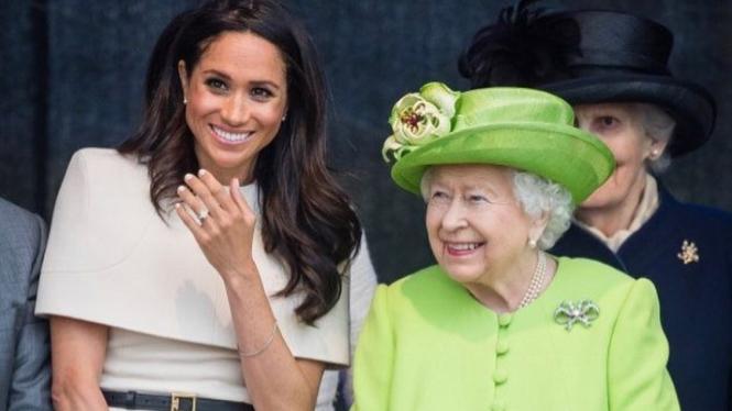 Meghan Markle dan Ratu Elizabeth II.