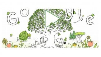 Google Doodle Hari Bumi.