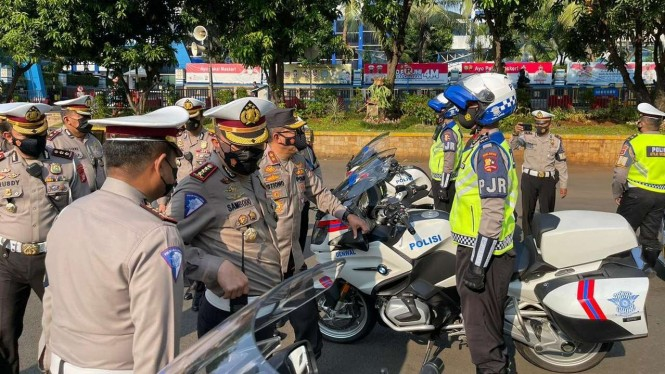 Direktur Lalu Lintas Polda Metro Jaya Kombes Polisi Sambodo Purnomo Yogo.