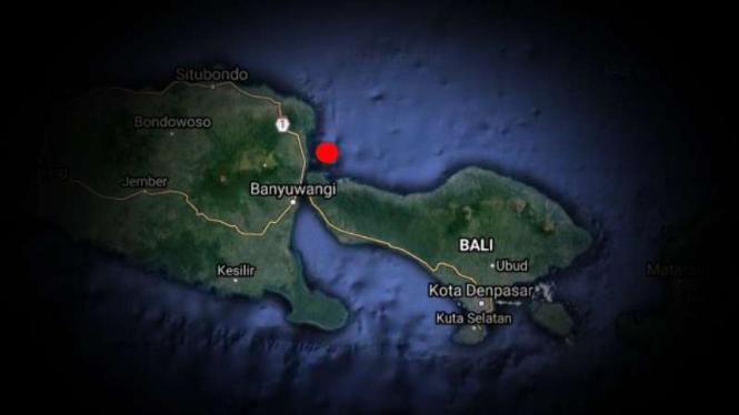 VIVA Militer: Peta laut Bali.