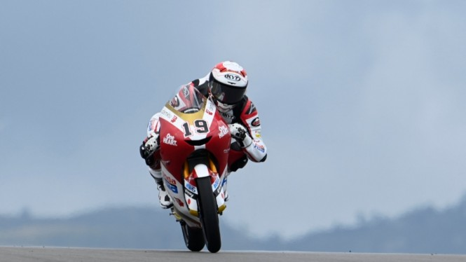 Pembalap Indonesia di Moto3, Andi Farid Izdihar alias Andi Gilang.