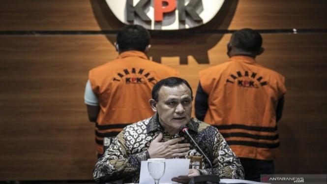 Ketua KPK Firli Bahuri menetapkan kasus suap penyidik KPK Stephanus Robin