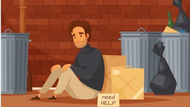 Ilustrasi potret kemiskinan di perkotaan (sumber: freepik)