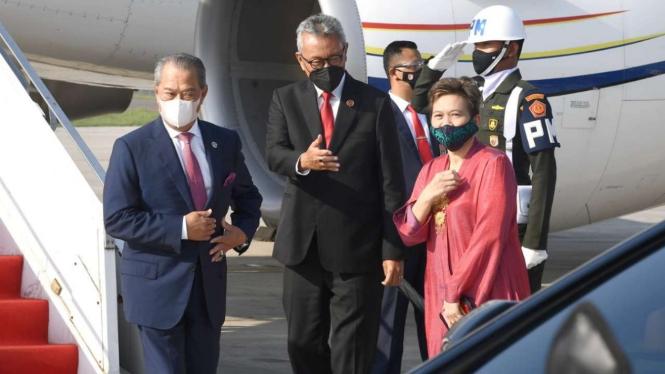 PM Malaysia Muhyaddin Yassin Tiba di Indonesia
