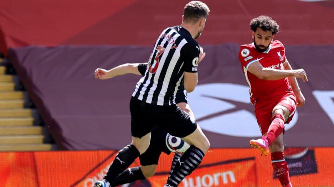 Bomber Liverpool, Mohamed Salah, saat hadapi Newcastle United