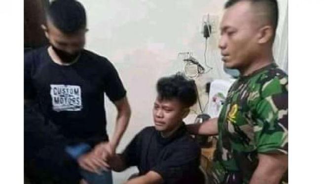 Pemilik Akun Facebook Imam Kurniawan dibawa ke Koramil