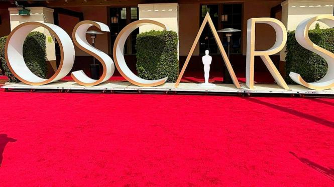 The red carpet Oscars Awards 2021