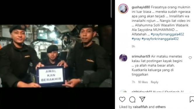 Video awak KRI Nanggala 402 sebelum tenggelam viral di media sosial.