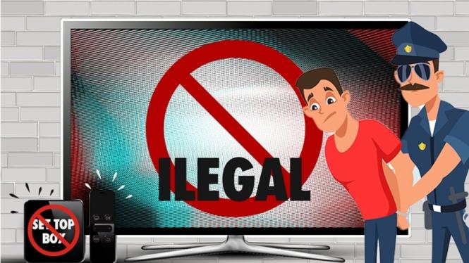 Ilustrasi penjual alat nonton siaran langsung sepakbola ilegal