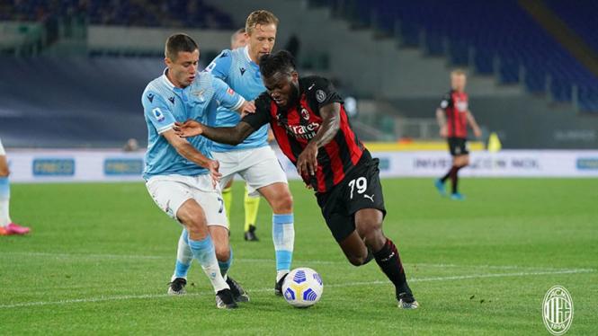 Laga antara Lazio kontra AC Milan.
