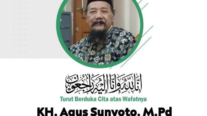 Ucapan duka wafatnya Ketua Lesbumi NU KH Agus Sunyoto.
