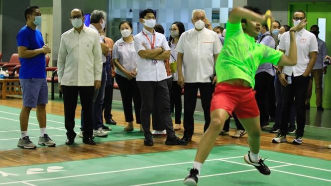 Komite Olimpiade Indonesia datang ke Pelatnas PB PBSI