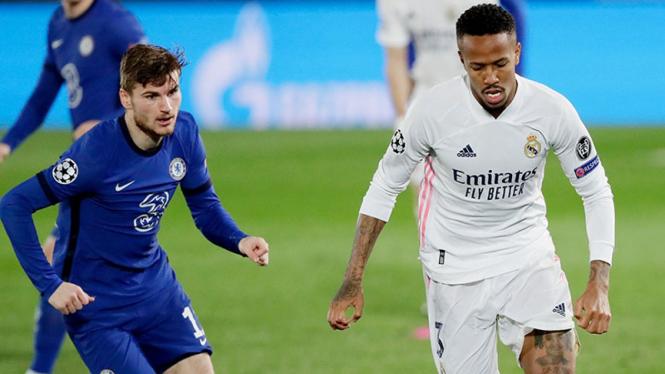 Duel Real Madrid vs Chelsea di leg pertama semifinal Liga Champions.