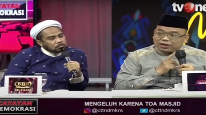 Debat Ali Ngabalin dengan Mustofa Nahrawardaya di Catatan Demokrasi tvOne