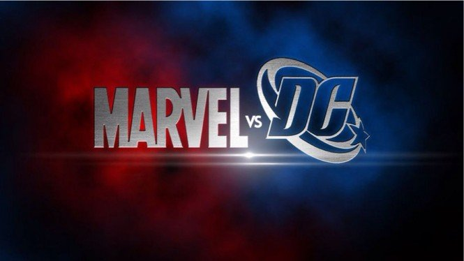 DC Comics vs Marvel.