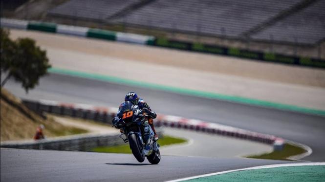 Pembalap Sky VR46, Luca Marini.