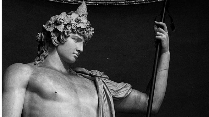 Ilustrasi Antinous as Dionysus-Osiris.