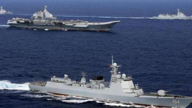 VIVA Militer: Formasi kapal perang Angkatan Laut Tentara Pembebasan Rakyat China