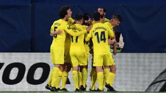 Pemain Villarreal merayakan gol