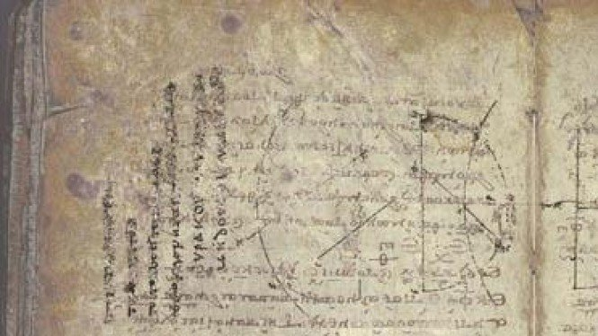 arcimedes palimpsest. dok.https://commons.wikimedia.org/wiki/File:Archimedes_Palimpsest.jpg