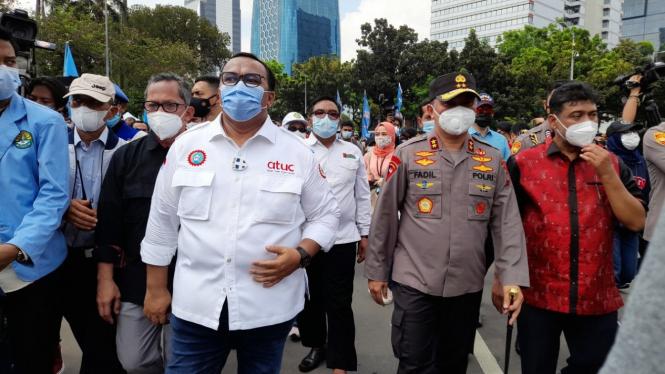 Kapolda Metro Jaya dampingi perwakilan buruh menuju gedung MK