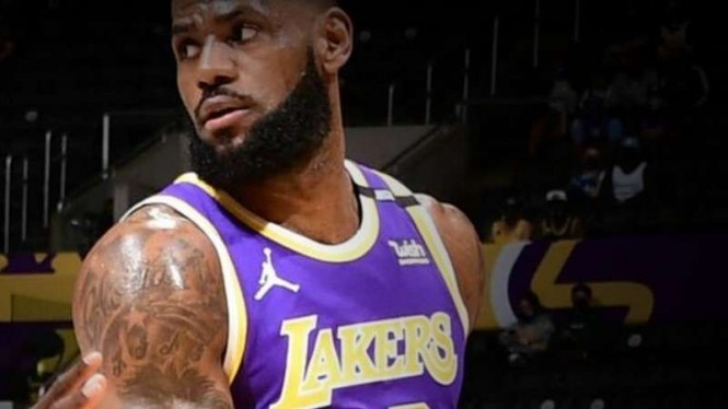 Pemain LA Lakers, LeBron James.