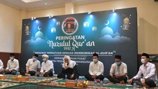PPP memperingati Nuzulul Quran di kantor mereka, Menteng, Jakarta Pusat.