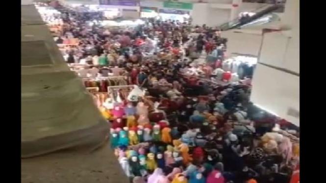 Kondisi Pasar Tanah Abang, Jakarta Pusat